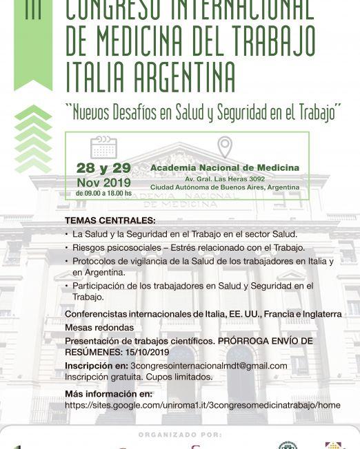 III CONGRESO INTERNACIONAL DE MEDICINA DEL TRABAJO ITALIA ARGENTINA (1)
